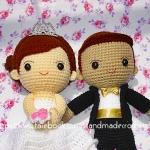 ตุ๊กตาแต่งงาน เจ้าบ่าวเจ้าสาว 9 นิ้ว แบบ1