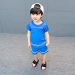 เสื้อ+กางเกง สีน้ำเงิน แพ็ค 5 ชุด ไซส์ 120-130-140-150-160