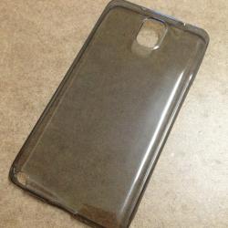 เคสนิ่มใส (หนา 0.3 mm) Samsung Note 3 สีเทา