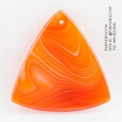 หินอาเกต AGATE ลวดลายสีส้มขาว AGT008