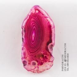 หินอาเกต AGATE ลวดลายสีชมพูขาว AGT009
