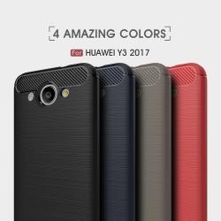 เคส Huawei Y3 2017 คาร์บอนไฟเบอร์