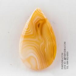 หินอาเกต AGATE ลวดลายสีเหลืองขาว AGT010