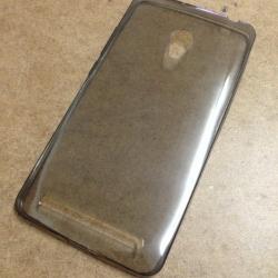 เคสนิ่มใส (หนา 0.3 mm) Zenfone 6 สีเทา