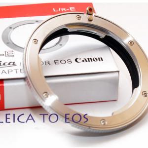 Adapter Leica R to Canon EOS อแดปเตอร์ แปลงเลนส์เม้าส์ Leica R ไปใช้กับกล้อง Canon EOS