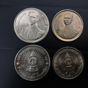 เหรียญกษาปณ์ มหามงคลพระชนมพรรษา ครบ 6 รอบ ชุดสองเหรียญ ปี พ.ศ. 2530 สภาพสวย