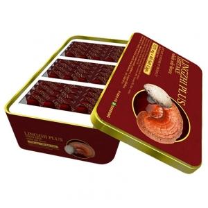 Lingzhi Plus Shiitake หลินจือ พลัส ชิตาเกะ เห็ดหลินจือแดงสกัด ผสมสารอิมมูนาจากเห็ดชิตาเกะ ในเจลน้ำมันรำข้าว 1 กล่อง (60 แคปซูล/กล่อง)