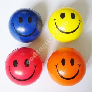 ลูกบอลหน้ายิ้มบริหารมือ 4สี x 12