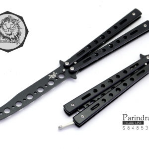 มีดบาลีซอง Benchmade Balisong มีดควง มีดปีกผีเสื้อ ไม่มีคม สำหรับการฝึกควง สีดำ ขนาด 9 นิ้ว (OEM) BLA006