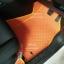 พรมรถยนต์สั่งตัด MG3 ลายกระดุมสีส้มขอบเหลือง thumbnail 4