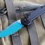 """Microtech LUDT Jedi Knight Automatic Knife (3.4"""" Blue) 135-1JK"""