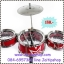 กลองเด็ก กลอง 3 ใบ Jazz Drum สีแดง พร้อมไม้ตี และ ฉาบ เพียง 180 ทั้งชุด thumbnail 1