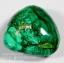 หินแร่มาลาไคท์ Malachite ขัดมันทรงกลมรี รูปสามเหลี่ยม ลวดลายสวยงาม ขนาด 120 กะรัต #MLC 017 thumbnail 1
