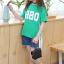 เสื้อ สีเขียว แพ็ค 5 ชุด ไซส์ 120-130-140-150-160 (เลือกไซส์ได้) thumbnail 4