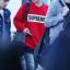 เสื้อแฟชั่นแขนยาว EXO BAEKHYUN SUPREME สีแดง thumbnail 2