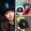 หมวกแฟชั่นเกาหลี เบสบอล Pinocchio ปาร์คชินเฮ (สีดำ น้ำเงิน) thumbnail 2