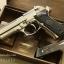 ปืน BBgun GUN HEAVEN Berretta 92FS Silver 6 mm. AirSoftGun thumbnail 1