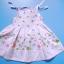 EXTG012 Baby Extreme เสื้อสายเดี่ยวเด็กหญิง สีชมพูอ่อน สม็อคช่วงลำตัว ปัก-พิมพ์ลายดอกไม้ Size 12M/24M thumbnail 1
