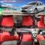พรมไวนิลปูพื้นรถยนต์ Toyota Vios 2010 สีแดงขอบดำ thumbnail 1