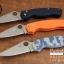 มีดพับ Spyderco รุ่น Paramilitary 2 ด้าม G10 สีส้ม ขนาด 8 นิ้ว (OEM) A+ thumbnail 5