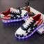 รองเท้าผ้าใบมีไฟ LED ลายธงชาติสหรัฐฯ (เปลี่ยนสีได้ 7 สี) thumbnail 1
