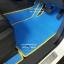 โรงงานพรมกระดุมเข้ารูปปูพื้นรถยนต์ Ford Everest 2016 ลายจิ๊กซอร์สีฟ้าขอบเหลือง thumbnail 3