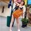 กระเป๋าแฟชั่น(สีส้ม)MCM thumbnail 3