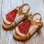 รองเท้าเด็กแฟชั่น สีแดง แพ็ค 5 คู่ ไซต์ 21-22-23-24-25 thumbnail 1
