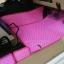ขายยางปูพื้นรถเข้ารูป Isuzu D-Max 2012-2017 4 ประตู ลายกระดุมสีชมพูขอบชมพู thumbnail 4