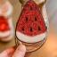 รองเท้าเด็กแฟชั่น สีแดง แพ็ค 5 คู่ ไซต์ 21-22-23-24-25 thumbnail 3