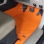 พรมปูพื้นรถยนต์เข้ารูปราคาถูก Chevrolet Trailblazer ลายจิ๊กซอร์สีส้มขอบส้ม thumbnail 2