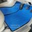 ผ้ายางปูพื้นรถยนต์ Toyota Vigo 4 ประตู ลายกระดุมสีฟ้าขอบดำ thumbnail 3