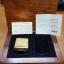 """ไฟแช็ค Zippo แท้ ฺเคสผลิตจากทองคำแท้ 18K """"ZIPPO #195 18K SOLID GOLD LIGHTER IN CHERRYWOOD BOX"""" แท้นำเข้า 100% thumbnail 1"""