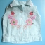 EXG081 Baby Q ชุดเด็กผู้หญิง เซต 3 ชิ้น เสื้อแขนกุดสีฟ้าปักแปะดอกไม้+เสื้อสายเดี่ยวสีขาว+กางเกงขาสั้นสีขาวระบายลูกไม้ Size 12M thumbnail 3