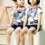 ND1004 BBQ เสื้อยืดเด็กแนวสไตล์เกาหลี สกรีนลายโรลเลอร์สเก็ต เก๋ไก๋ มีสีขาว และ สีเทา Size 90/100/110/120/130 thumbnail 1