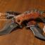 มีดคารัมบิต (Karambit) Tactical Karumbit Deresrina Knife (OEM) ด้ามไม้สีน้ำตาลแดง thumbnail 1