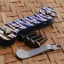 Key Bar Carved Multicolor With Damascus Pattern Titanium CNC Milled