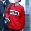 เสื้อแฟชั่นแขนยาว EXO BAEKHYUN SUPREME สีแดง thumbnail 1
