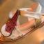 รองเท้าเด็กแฟชั่น สีแดง แพ็ค 5 คู่ ไซต์ 21-22-23-24-25 thumbnail 4