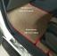 พรมไวนิลปูพื้นรถยนต์ Ford Ranger 4ประตู สีครีมขอบครีมขอบแดง thumbnail 2