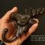 รูปหล่อหัวกวาง ขนาด 7 นิ้ว สำหรับการตกแต่งแนววินเทจ ใช้แขวนของได้ สวยงามมาก ทำจากโลหะ thumbnail 5