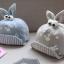 หมวกเด็กลายกระต่ายสีฟ้า แพ็ค 3 ชิ้น thumbnail 2