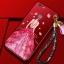 เคส ไอโฟน 6 Plus/6s plus 5.5 นิ้ว แดงกำมะหยี่พิมพ์ลายมีสายห้อยดอกไม้ thumbnail 1