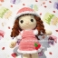 ตุ๊กตาถักไหมพรม คนชุดหมวกขนแกะ thumbnail 3