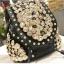 กระเป๋าหนังติดกระดุมแฟชั่น(สีดำ) thumbnail 1