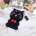 เคสซิลิโคนแมวอ้วน 3D ไอโฟน 7 (4.7 นิ้ว)-สีดำ
