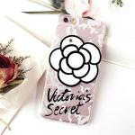 เคส tpu ดอกไม้ซ่อนกระจก ไอโฟน 6/6s 4.7 นิ้ว-ขาว
