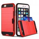 เคสกันกระแทกใส่นามบัตรได้ ไอโฟน 6/6s 4.7 นิ้ว-แดง