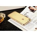เคสนิ่มขอบเพชรสีโครเมียม ไอโฟน 7 4.7 นิ้ว-สีทอง