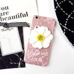 เคส tpu ดอกไม้ซ่อนกระจก ไอโฟน 6/6s 4.7 นิ้ว-ชมพูอ่อน